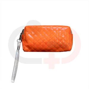 کیف آرایشی ورنی نارنجی